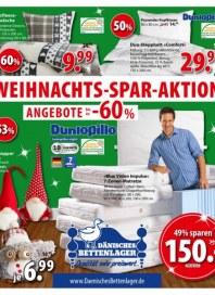 Dänisches Bettenlager Weihnachts-Spar-Aktion November 2015 KW45