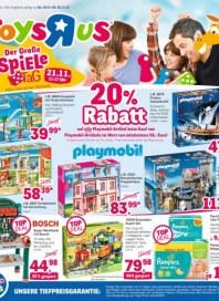 Toys''R''Us 20 % Rabatt November 2015 KW47