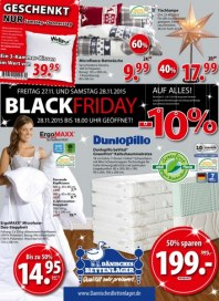 Dänisches Bettenlager Black Friday November 2015 KW47