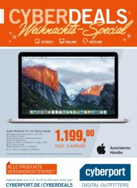 Cyberport Cyberdeals Weihnachts-Special Dezember 2015 KW51