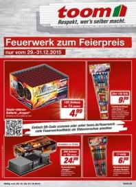 toom Baumarkt Feuerwerk zum Feierpreis Dezember 2015 KW53