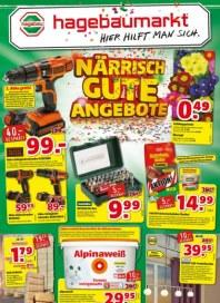hagebaumarkt Närrisch gute Angebote Januar 2016 KW03