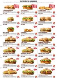 BURGER KING Satt sparen bei Burger King Januar 2016 KW03