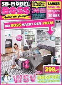 SB Möbel Boss Der Boss macht den Preis Januar 2016 KW04 1