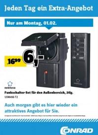 Conrad Electronic Jeden Tag ein Extra-Angebot Februar 2016 KW05