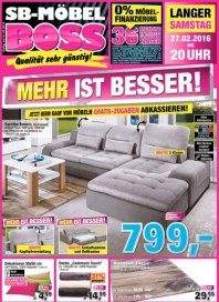 SB Möbel Boss Mehr ist besser Februar 2016 KW08