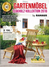 Rahaus Gartenmöbel - Teakholz-Kollektion 2016 April 2016 KW14