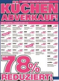 kriegerhome Küchen-Abverkauf April 2016 KW16