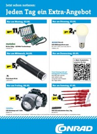 Conrad Electronic Jeden Tag ein Extra-Angebot Mai 2016 KW18