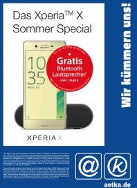 aetka Das Xperia X Sommer Special Juli 2016 KW30