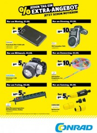 Conrad Electronic Jeden Tag ein Extra-Angebot August 2016 KW31