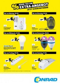 Conrad Electronic Jeden Tag ein Extra-Angebot September 2016 KW36