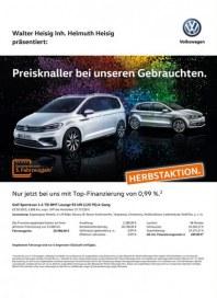 Volkswagen Preisknaller bei unseren Gebrauchten September 2016 KW37 1
