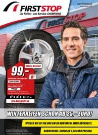 First Stop Reifen Auto Service GmbH Winterreifen schon am 25,- Euro September 2016 KW39 1