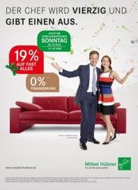 Möbel Hübner Der Chef wird vierzig und gibt einen aus September 2016 KW39