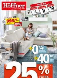 Höffner 25 % Extra Rabatt Oktober 2016 KW40