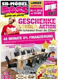 SB Möbel Boss Geschenke Sonder-Aktion November 2016 KW47
