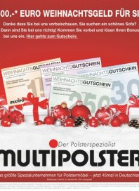 Multipolster 500,- Euro Weihnachtsgeld für Sie Dezember 2016 KW48