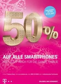 Telekom Shop 50% auf alle Smartphones Dezember 2016 KW52 1