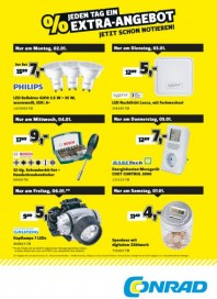 Conrad Electronic Jeden Tag ein Extra-Angebot Januar 2017 KW01