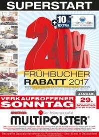 Multipolster Frühbucher-Rabatt 2017 Januar 2017 KW04