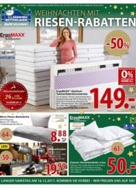 Dänisches Bettenlager Weihnachten mit Riesen-Rabatten Dezember 2017 KW49