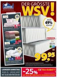 Dänisches Bettenlager Der größte WSV Januar 2018 KW01