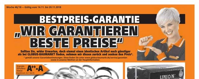 Prospekte Globus BM (weekly) November 2018 KW46