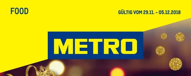 Metro Cash & Carry Metro (Food 29.11.2018 - 05.12.2018) November 2018 KW48