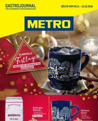 Metro Cash & Carry Metro (GastroJournal 29.11.2018 - 12.12.2018) November 2018 KW48