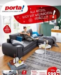 Porta Möbel Porta (Alle Artikel in diesem Prospekt noch vor Weihnachten erhältlich! - 01.12.2018 - 1