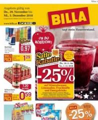 Billa Billa (KW49) November 2018 KW48