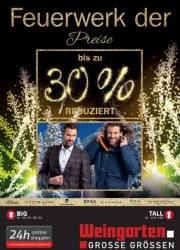 Weingarten Feuerwerk der Preis Dezember 2018 KW50