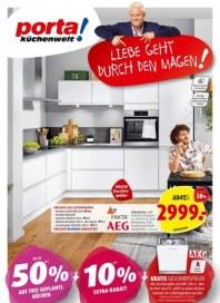 Porta Möbel Porta (Jetzt sparen! Bis zu 50 % auf frei geplante Küchen + 10 % Extra-Rabatt! - 02.02.2