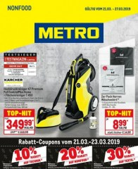 Metro Cash & Carry Metro (Non-Food 21.03.2019 - 27.03.2019) März 2019 KW12