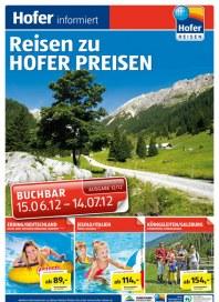Hofer Hofer Reisen Juni 2012 2 Juni 2012 KW24