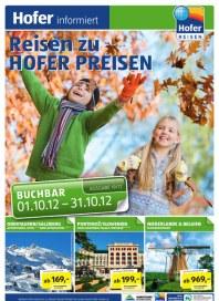 Hofer Hofer Reisen Oktober 2012 Oktober 2012 KW40