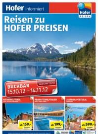 Hofer Hofer Reisen Oktober 2012 Oktober 2012 KW42 1