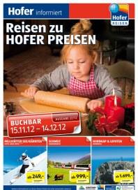 Hofer Hofer Reisen November 2012 November 2012 KW46 1