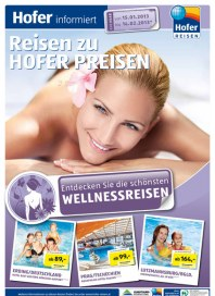 Hofer Hofer Reisen Jänner 2013 - Wellnessreisen Januar 2013 KW03