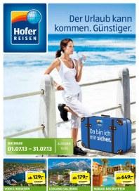 Hofer Hofer Reisen Juli 2013 Juli 2013 KW27