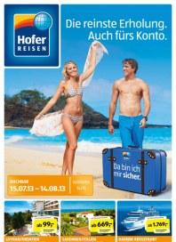Hofer Hofer Reisen Juli 2013 Juli 2013 KW29 1
