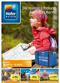 Hofer Hofer Reisen August 2013 August 2013 KW33 1
