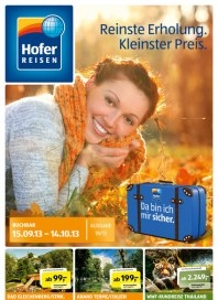 Hofer Hofer Reisen September 2013 September 2013 KW37 1