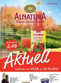 Alnatura Alnatura Prospekt KW39 September 2013 KW39