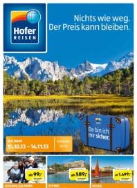 Hofer Hofer Reisen Oktober 2013 Oktober 2013 KW42 2