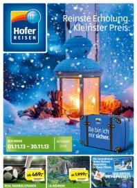 Hofer Hofer Reisen November 2013 November 2013 KW44