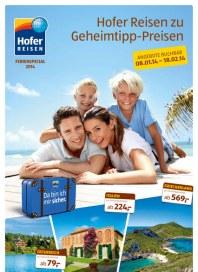Hofer Hofer Reisen - Ferienspecial 2014 Januar 2014 KW02