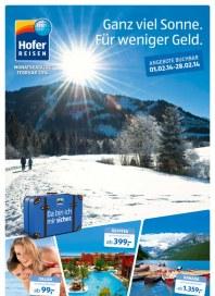 Hofer Hofer Reisen Februar 2014 Februar 2014 KW05