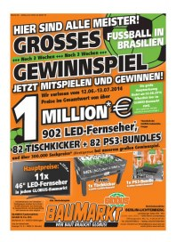 Globus Baumarkt Globus Baumarkt Prospekt KW26 Juni 2014 KW26